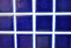 Home decor blue tile ceramic wall Stock Photo