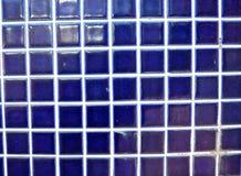Home decor blue tile ceramic wall Stock Photos