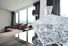 Home decor crystal bowl Royalty Free Stock Photography