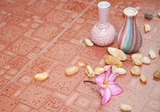Home decor flower on floor. Background with home decor flower on floor Royalty Free Stock Photo
