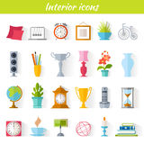 Home decor icons. Icons of home decor, interior accessories and souvenirs. Set of vector pictogram for web design stock illustration