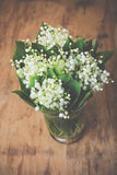 Home decor, lilies of the valley Royalty Free Stock Photos