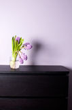 Home decor with purple hyacinth Royalty Free Stock Photography