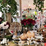 Home decor store. All kinds of stuff in a luxury home decor store stock images