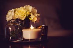 Home decor on an a table Royalty Free Stock Photography