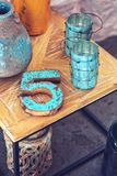 Home decor / wooden number 5 Stock Photo