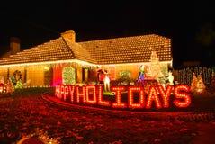 HOME decorada para o Natal Imagem de Stock