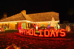 Home decorated for Christmas Stock Image
