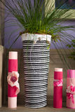 Home decoration accessories in pink Stock Photos