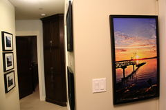 Home decoration with art, showpiece, modern furniture.  Stock Photography
