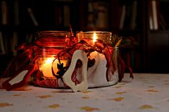 Christmass Decoration with candles Royalty Free Stock Photo