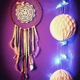 Home decoration. Dreamcatcher. Colorful. Catch your dreams. Dream Stock Photos