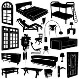Home decoration and furniture vector vector illustration