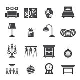 Home decoration icons Stock Image