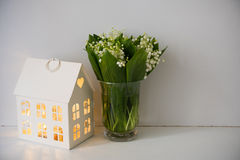Home Decoration, Lilies Of The Valley Royalty Free Stock Photo