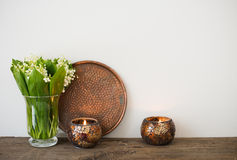 Home decoration, lilies of the valley Stock Image