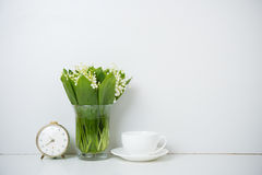 Home decoration, lilies of the valley Royalty Free Stock Images