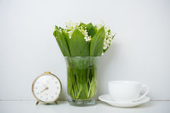 Home decoration, lilies of the valley Royalty Free Stock Image