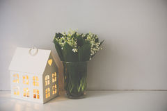 Home decoration, lilies of the valley Stock Photos