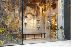 Home decoration shop window front. Home decoration   shop window  front  daytime stock photos