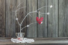 Home decoration with soft heart Stock Photography