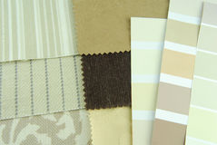 Home decoration  upholstery planning Royalty Free Stock Photo