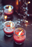 Home decorations, candles Royalty Free Stock Photo