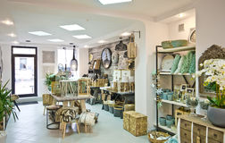 Home decorations shop interior Stock Images