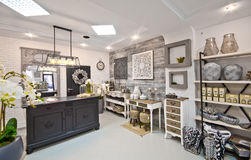Home decorations shop interior Royalty Free Stock Images