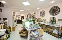 Home decorations shop interior Stock Photos