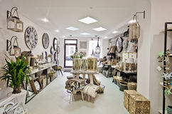 Home decorations shop interior Royalty Free Stock Photo