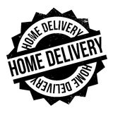 Home Delivery rubber stamp. Grunge design with dust scratches. Effects can be easily removed for a clean, crisp look. Color is easily changed Royalty Free Stock Image