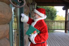 Home Delivery Santa 3 Royalty Free Stock Photography
