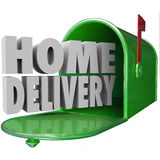 Home Delivery Special Shipping Service Straight to Your House Stock Photos