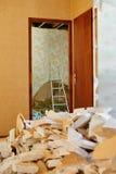 Home demolition debris Royalty Free Stock Photo