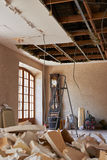 Home demolition debris Royalty Free Stock Photography