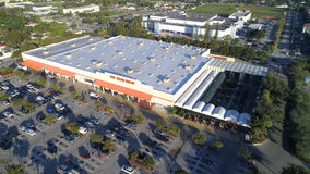 Home Depot aerial image Stock Images