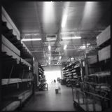 Home Depot Bauholzabschnitt Stockfoto