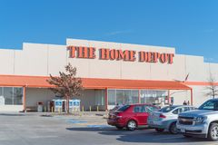 Home Depot hänrycker Irving, Texas Royaltyfri Bild