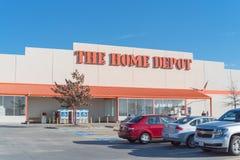 Home Depot-Ingang Irving, Texas royalty-vrije stock afbeelding