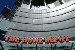 Home Depot lagrar logo fotografering för bildbyråer