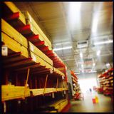 Home depot lumber section Royalty Free Stock Photography