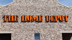 Home Depot Przechuje znaka Zdjęcia Stock