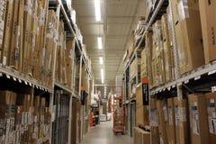Home Depot stockent Images libres de droits