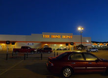 The Home Depot store at sunrise or sunset Stock Photography