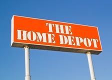 Home Depot undertecknar Royaltyfri Fotografi