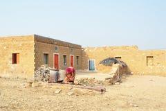 Home in desert Stock Photography