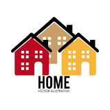 Home desgin over white background vector illustration Stock Images