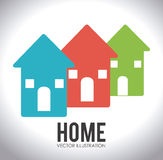 Home desgin over white background vector illustration Royalty Free Stock Photos