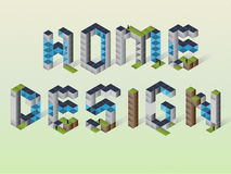 Home Design. With cube styl vector illustration